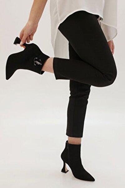 Kadın Siyah Süet Demina Topuklu Bot