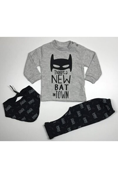 Zeyn Erkek Çocuk Gri Batman Takım