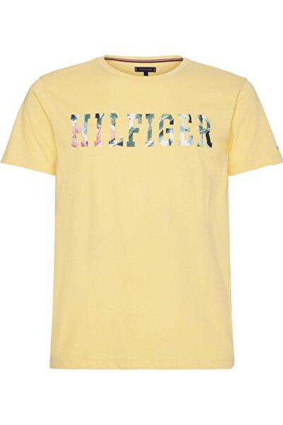 Tommy Hilfiger Erkek Sarı Hılfıger Floral Tee  T-Shirt