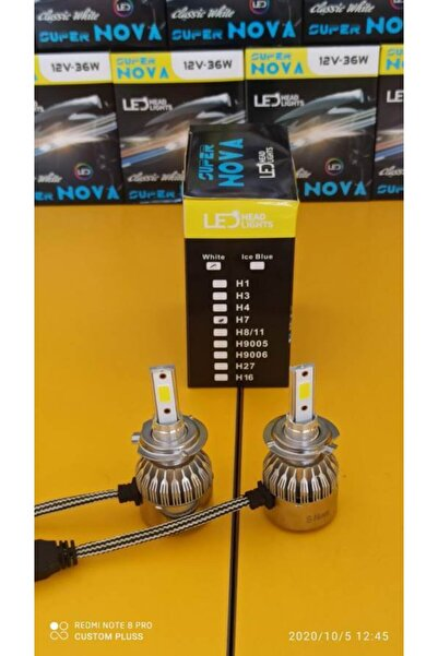Nova Super Beyaz H7 Simsek Etkili Cob Led Headligh