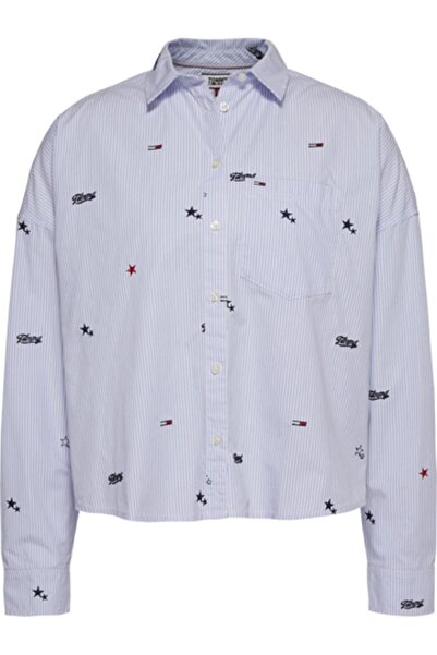 Tommy Hilfiger Kadın  Mavi Tjw Crıtter Prınt Gömlek