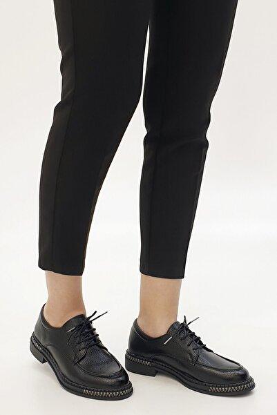 Marjin Kadın Siyah Laves Oxford Ayakkabı