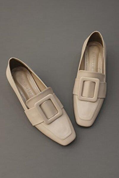 Kadın Bej Jiyona Topuklu Ayakkabı