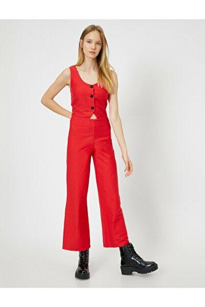 Koton Kadın Kırmızı Tulum 9YAL48272IW
