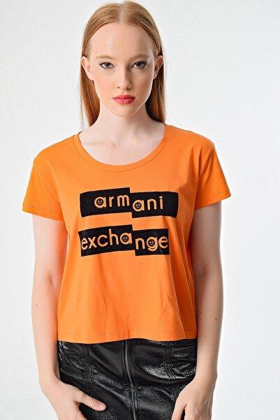 Armani Exchange Kadın Turuncu  T-shirt