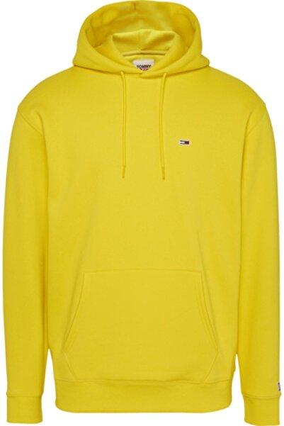 Tommy Hilfiger Erkek Sarı Tjm Tommy Classıcs Hoodıe Sweatshirt