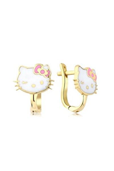 Hello Kitty Altın Küpe