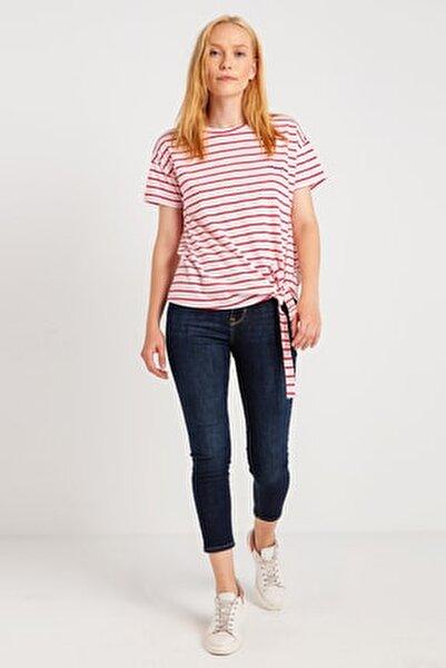 Kadın Önü Bağlamali T-Shirt 14-W00169-827