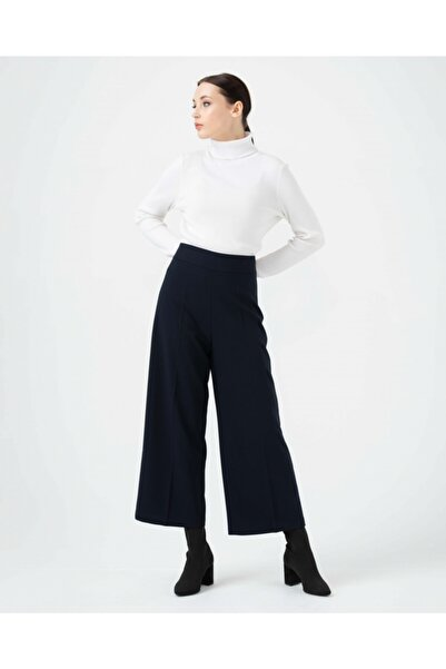 SEÇİL Kadın Lacivert Rahat Kesim Bilek Boy Pantolon 03060