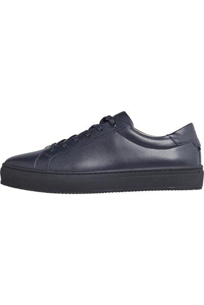 Tommy Hilfiger Erkek Lacivert Sneaker Premıum Cupsole Leather