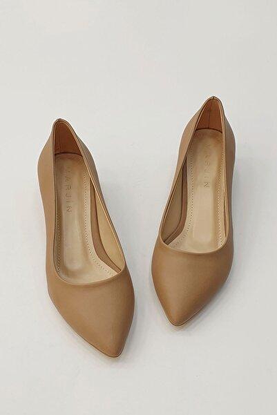 Marjin Kadın Apunte Klasik Topuklu AyakkabıVizon