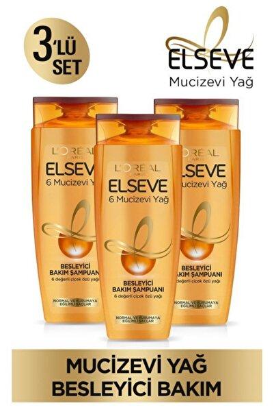 ELSEVE 6 Mucizevi Yağ Besleyici Bakım Şampuan 450ml 3'lü Set