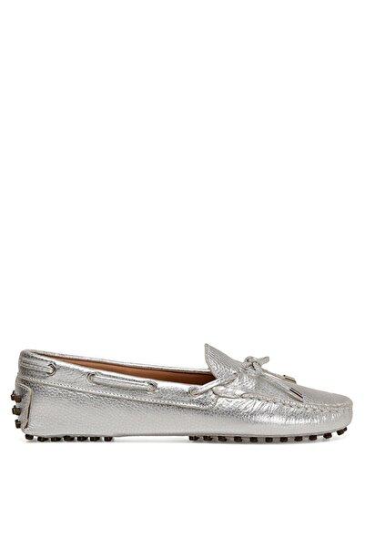 Nine West Holt3 Gümüş Kadın Loafer Ayakkabı