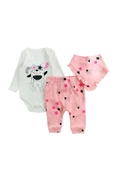 İmaj Kız Bebek Pembe Senin Için Takım 3lü