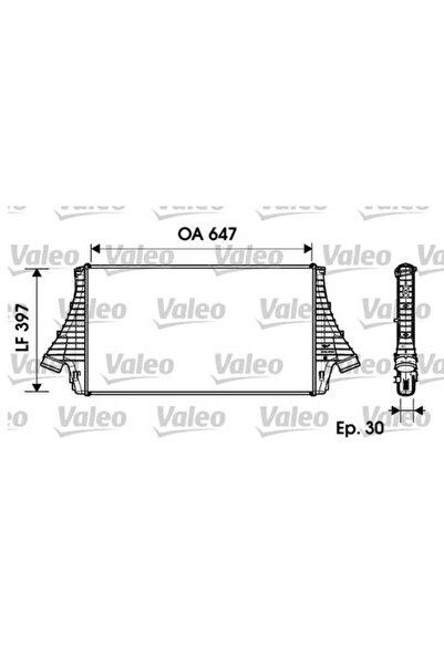 VALEO Turbo Radyatoru Intercooler Opel Vectra C-signum Saab 9-3 650x397.4x20 Alplbrz