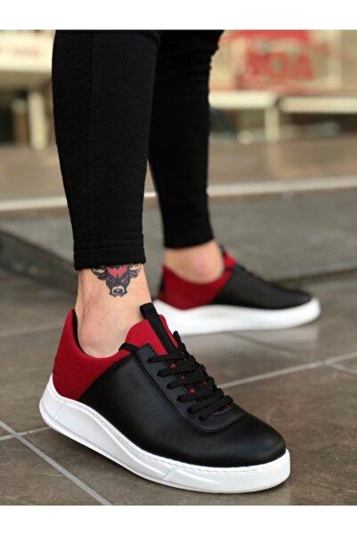 Boaondana Erkek Siyah Kırmızı Beyaz Taban Sneakers Ba0031