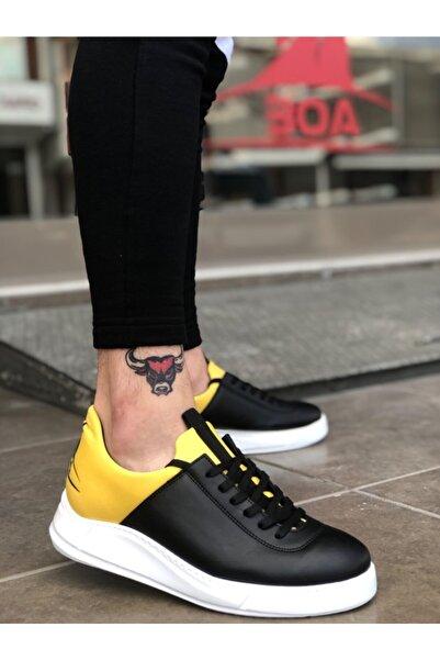 Boaondana Erkek Siyah Sarı Beyaz Taban Sneakers Ba0031