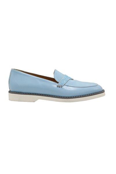 ALBERTO GUARDIANI Kadın Mavi Deri Casual Ayakkabı