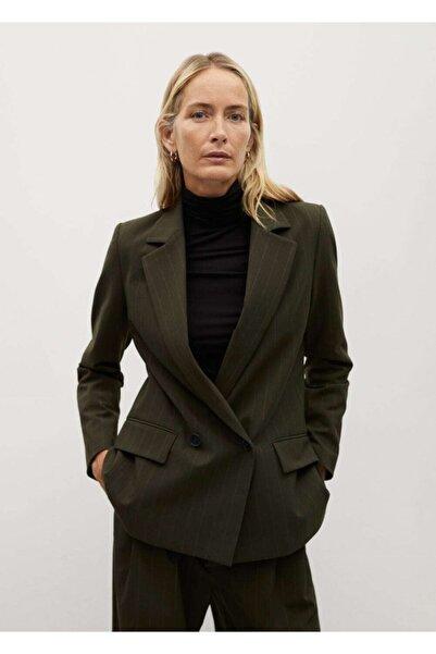 MANGO Woman Kadın Haki Blazer Ceket