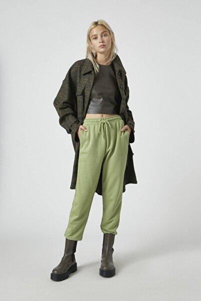 Pull & Bear Kadın Elma Yeşili Elastik Paçalı Basic Jogger Pantolon 09678407