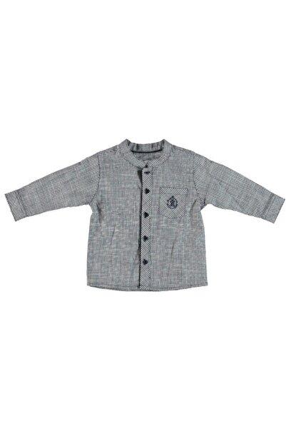 Monna Rosa Erkek Çocuk Gri Kareli Gömlek