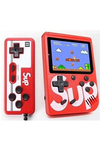 SUP Çift Kol 400 Nostalji Oyunlu Mini Atari Gameboy -Gamebox Oyun Konsolu - Kırmızı