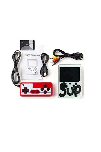 SUP Çift Kol 400 Beyaz Nostalji Oyunlu Mini Atari Gameboy -Gamebox Oyun Konsolu