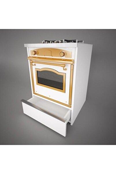 Mihenk Ankastre Modül Çekmeceli Beyaz Mutfak Dolabı