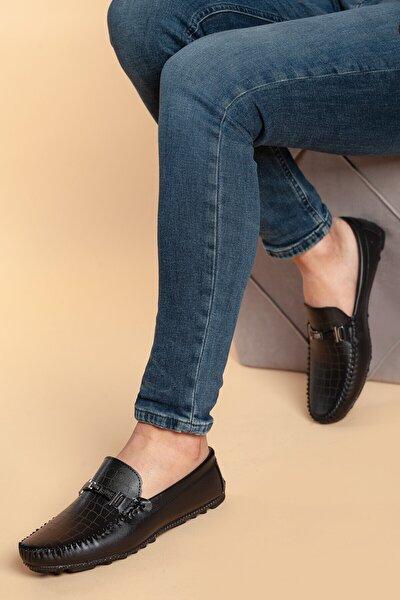 Daxtors Erkek Siyah Ortopedik Günlük Ayakkabı