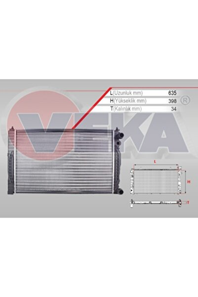 VEKAM Su Radyatoru Mekanik Volkswagen Passat (3b3) 1.6 M-t 1996-2005