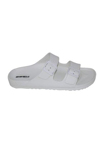 Esem Comfort Unisex Beyaz Çift Tokalı Terlik
