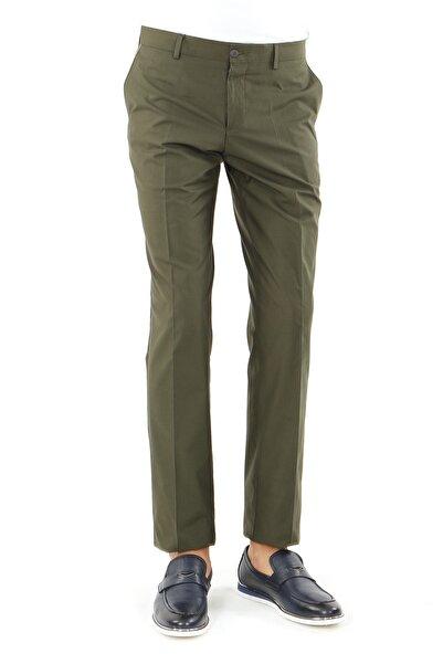 Jakamen Erkek Yeşil Slim Fit Serili Pantolon