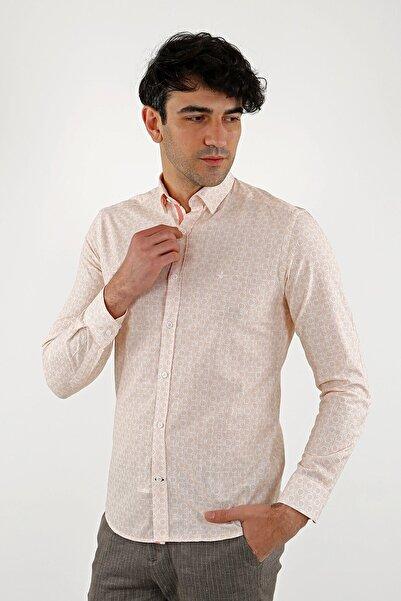 Jakamen Turuncu Slim Fit Normal Manşet Gömlek