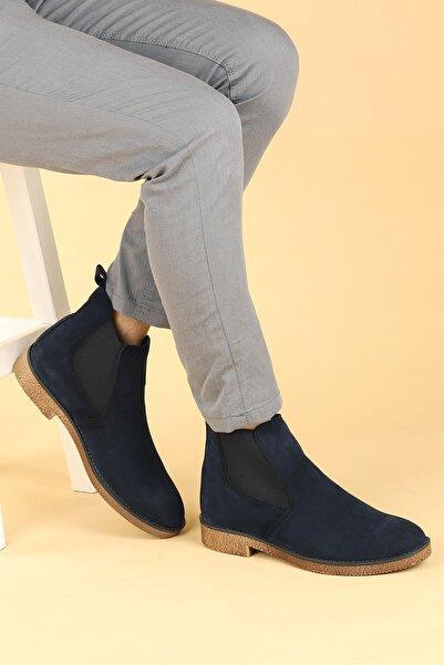 Ayakland Erkek Lacivert Süet Termo Taban Bot Ayakkabı 5100