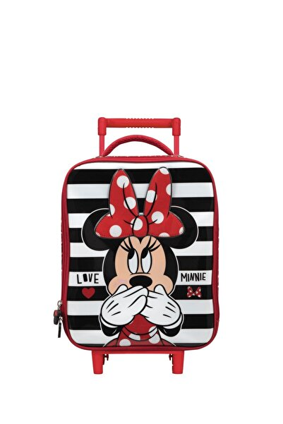 Minnie Mouse Kız Çocuk Kırmızı Box Signature Tekerlekli Anaokulu Çantası 5204