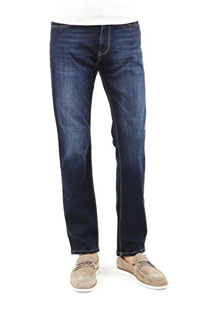 Jakamen Erkek Lacivert  Regular Fit Serili Kot 5 Cep Serili Pantolon