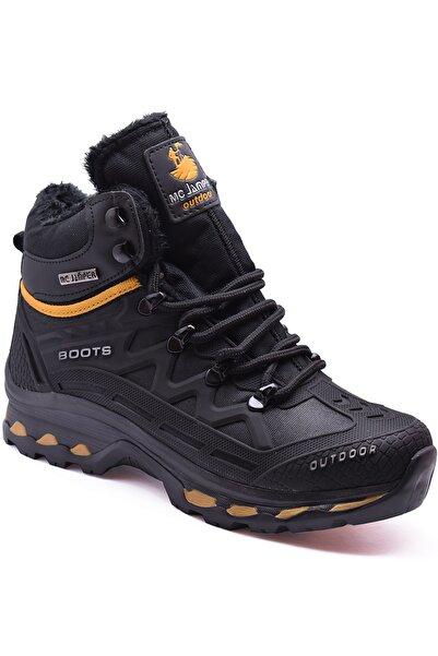 ayakkabiburada Erkek Siyah Jamper 1821 Ortopedi Trekking Bot Soğuk Geçirmez