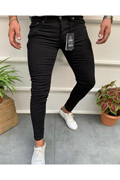 ENERJİN Erkek Siyah Kot Pantolon