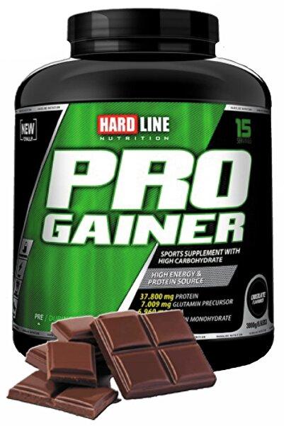 Hardline Progainer 3000 gr Çikolata Çikolata Aromalı Kilo Aldırı Hacim Kuvvet Güç Enerji Diyet Form