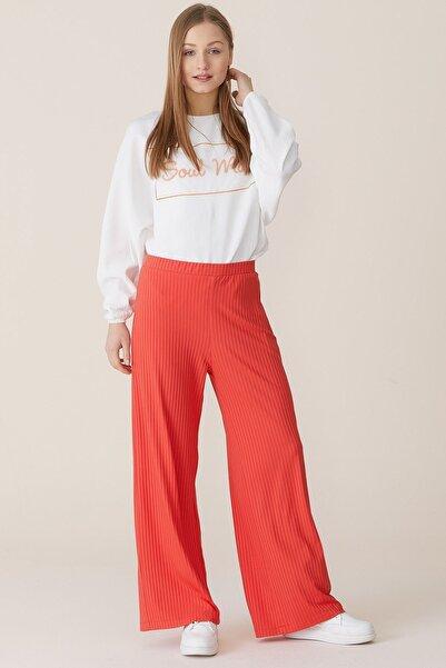 Nihan Kadın Nar Çiçeği Örme Pantolon X4157
