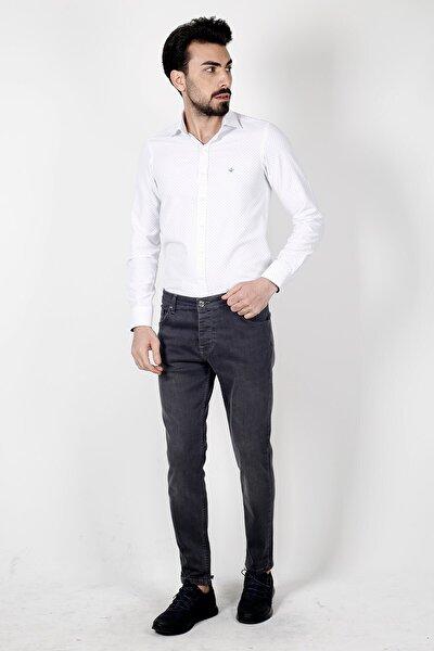 Jakamen Antrasıt Ekstra Extra Slim Fit  5 Cep Kot Pantolon