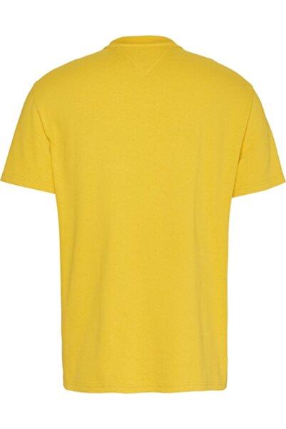 Tommy Hilfiger Erkek Sarı Tjm Small Flag Tee Tshirt