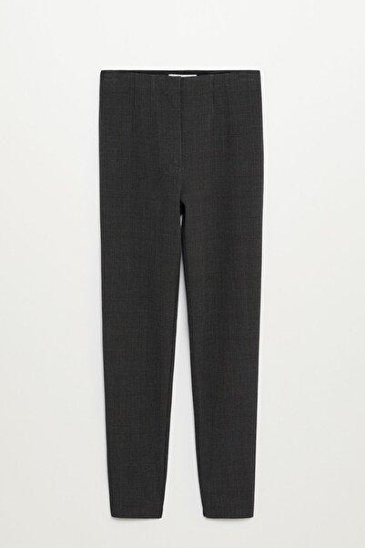 MANGO Woman Kadın Gri Beli Elastik Pantolon 77072507