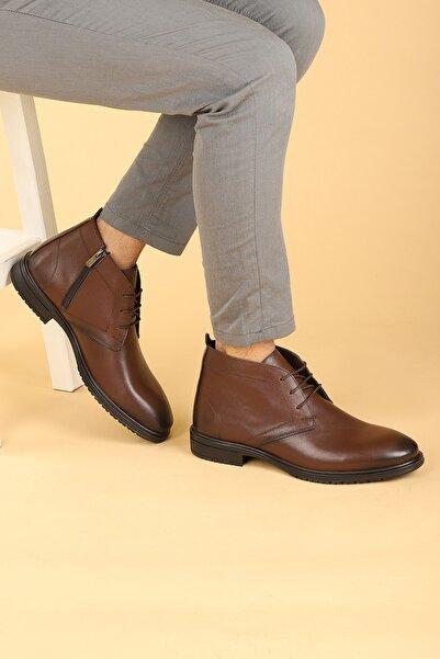 Ayakland Hrz 097 Deri Kauçuk Taban Fermuarlı Erkek Bot Ayakkabı