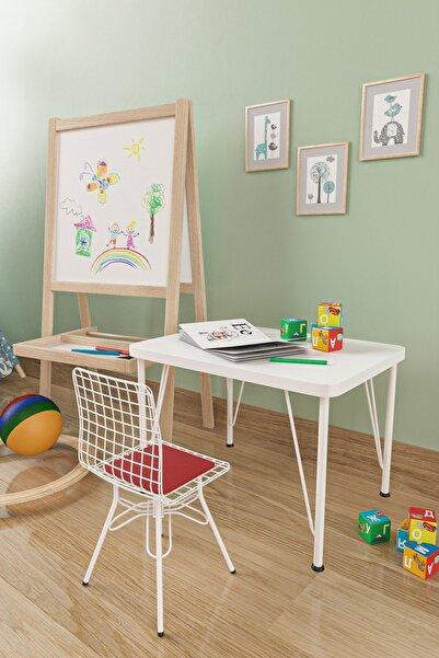 Evdemo Çocuk Masa Sandalye Takımı Kırmızı