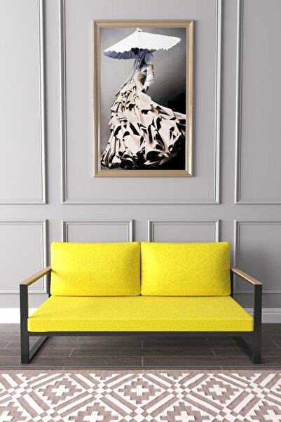 Evdemo Kobalt Ikili Kanepe Sarı
