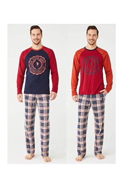 U.S. Polo Assn. Us Polo Sıfır Yaka Erkek Pijama Takımı 18342