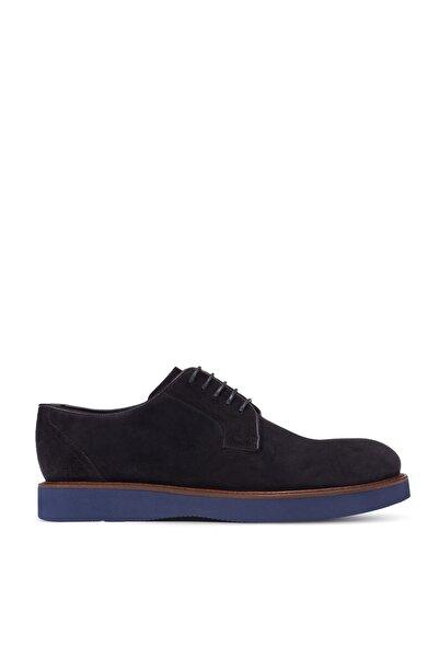 Deery Hakiki Süet Lacivert Günlük Erkek Ayakkabı