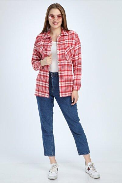 Costleyy Kadın Kırmızı Oduncu Gömleği