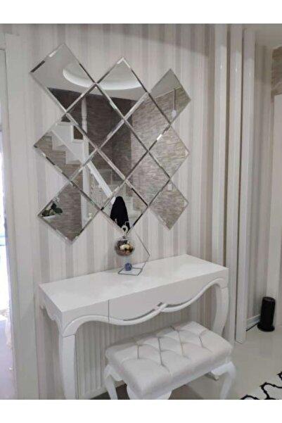 Şişecam Dekoratif Ayna Bizoteli Parçalı Ayna Gerçek Ayna Dresuar Aynası Konsol Aynası Baklava Ayna Bronz